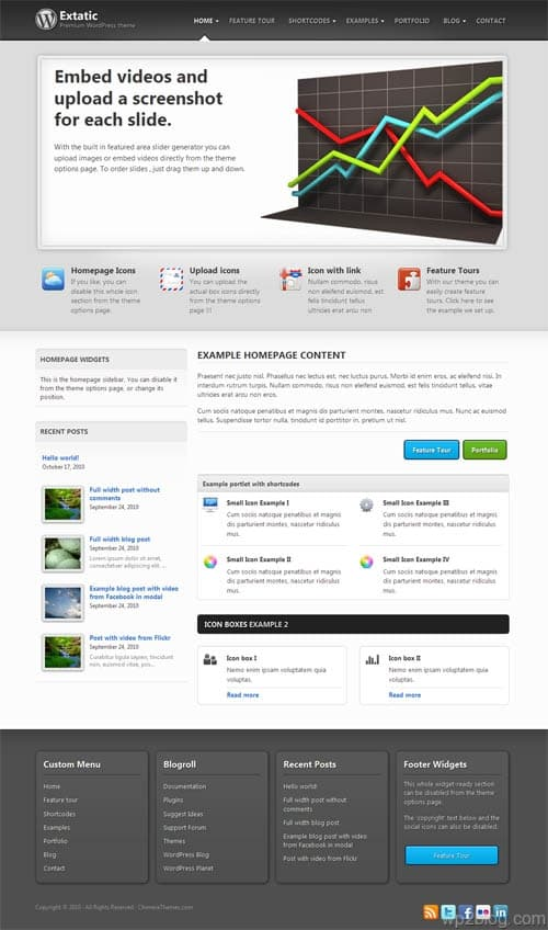 Extatic Premium WordPress Theme