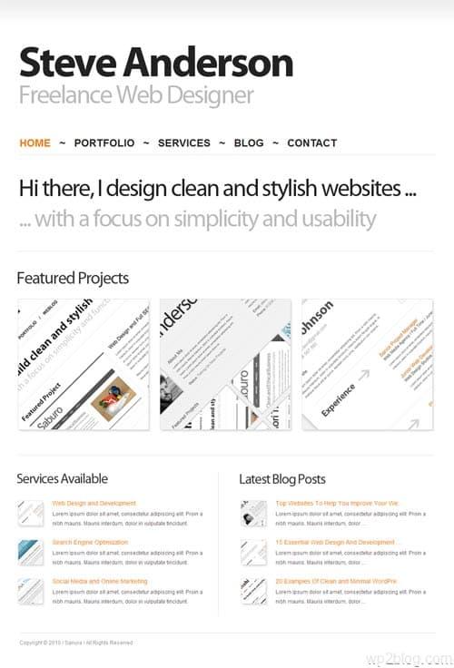 sanura wordpress theme