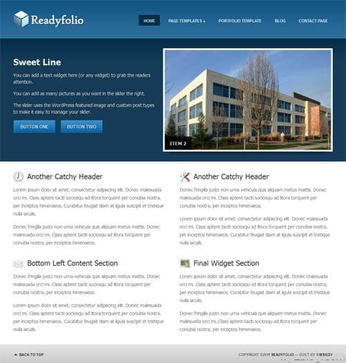 Readyfolio Premium WordPress Theme