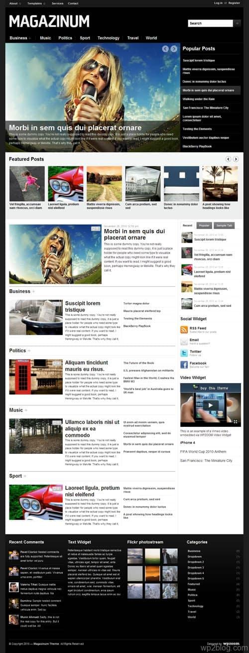 Magazinum Premium WordPress Theme