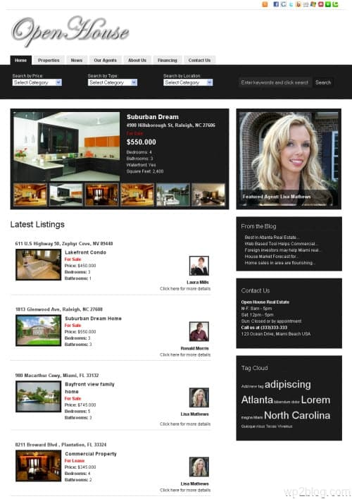 open house wordpress theme