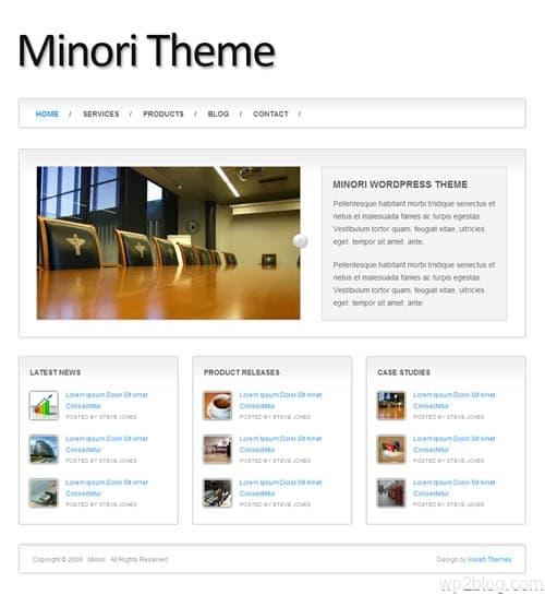 minori wordpress theme