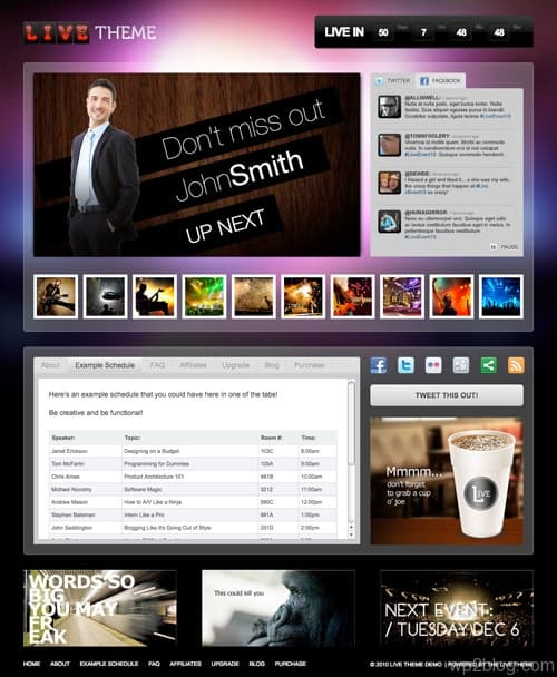 Live Video Streaming WordPress Theme