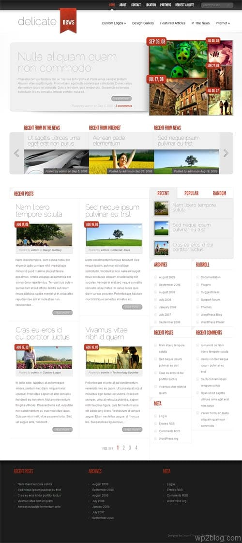 delicate news wordpress theme