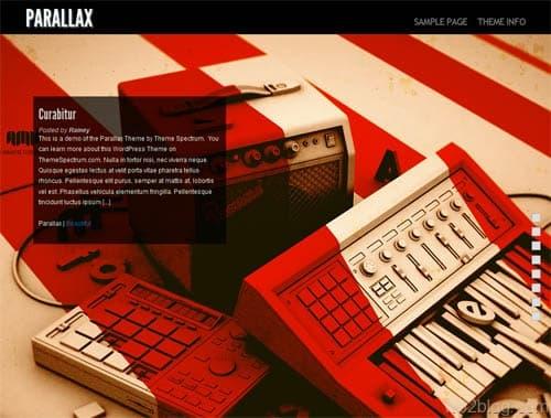 Parallax Premium WordPress Theme