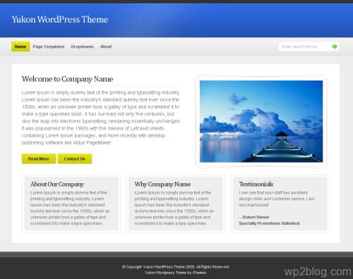Yukon Business Premium WordPress Theme