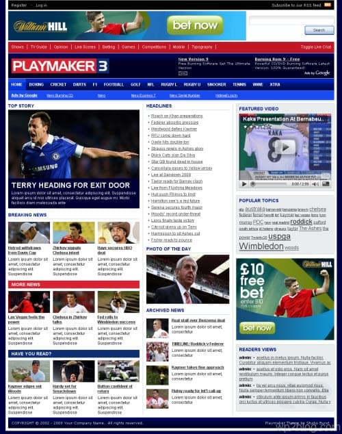 playmaker 3 wordpress theme