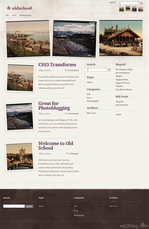 old school wordpress theme
