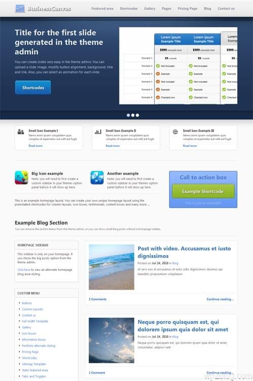 Business Canvas Premium WordPress Theme
