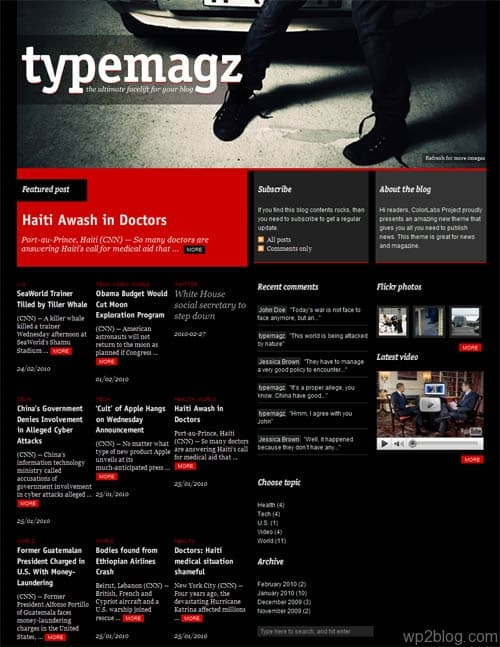 TypeMagz Premium WordPress Theme