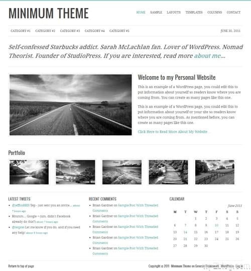 Minimum Premium WordPress Child Theme