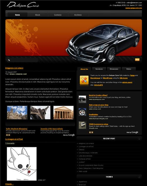 Deluxe Cars Theme