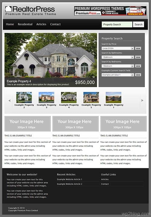 realtorpress wordpress theme