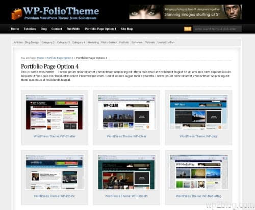 Portfolio Premium WordPress Theme