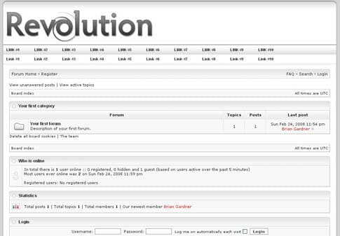 Revolution Tech Forum Template