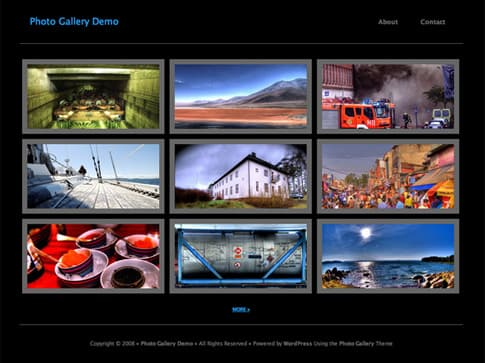 Photo Gallery Theme Black