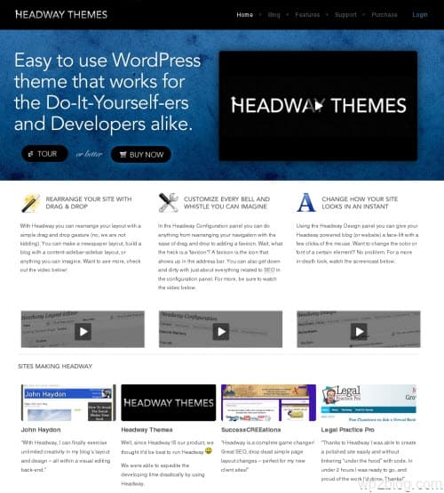 headway theme system