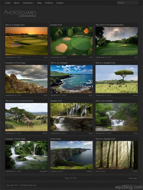 Photo Squares Premium WordPress Theme