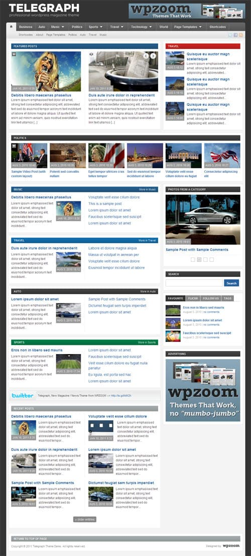 telegraph wordpress theme