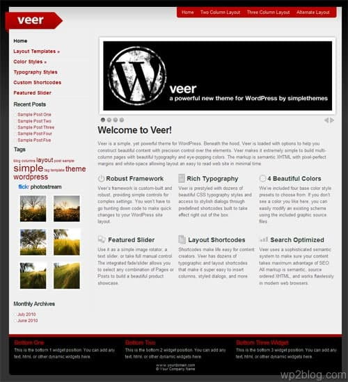 Veer WordPress Theme