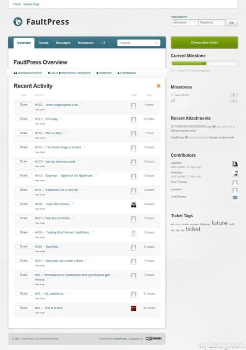 FaultPress wordpress theme