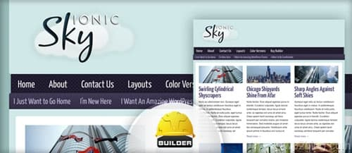ionic sky wordpress theme