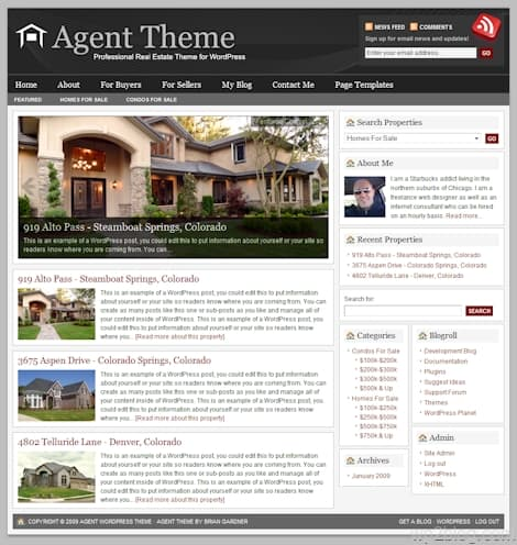 revolution agent wordpress theme