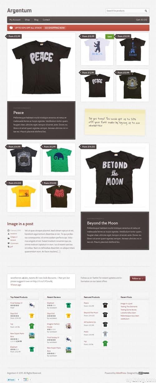 Responsive WordPress Commerce Theme