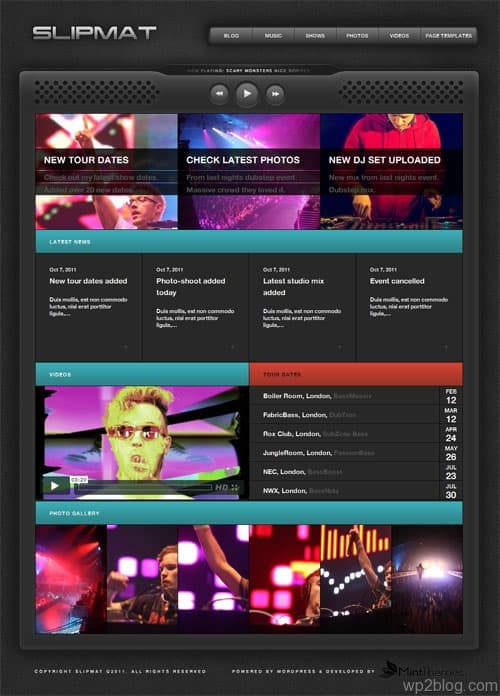 WordPress DJ Theme