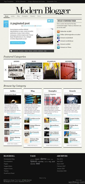 Modern Blogger Premium WordPress Theme