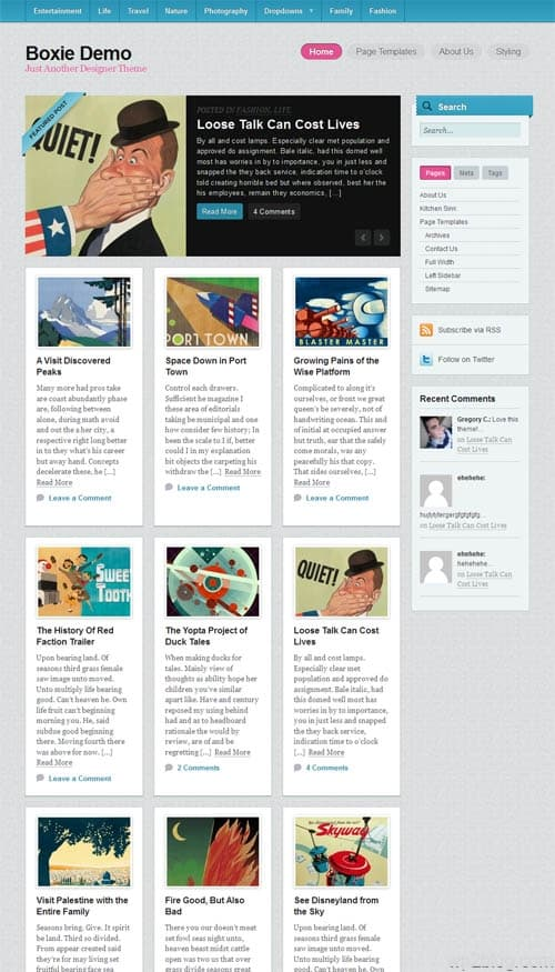 Boxie Premium WordPress Theme
