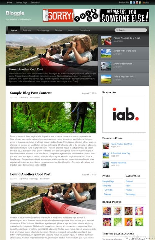 Bloggie Premium WordPress Theme