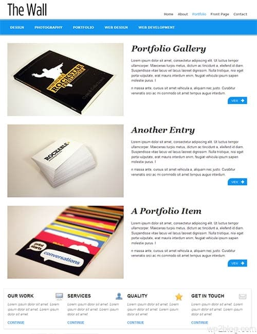 the wall wordpress theme