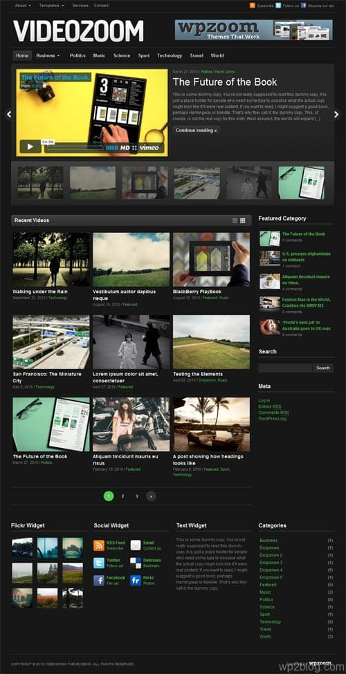 Video Zoom Premium WordPress Theme