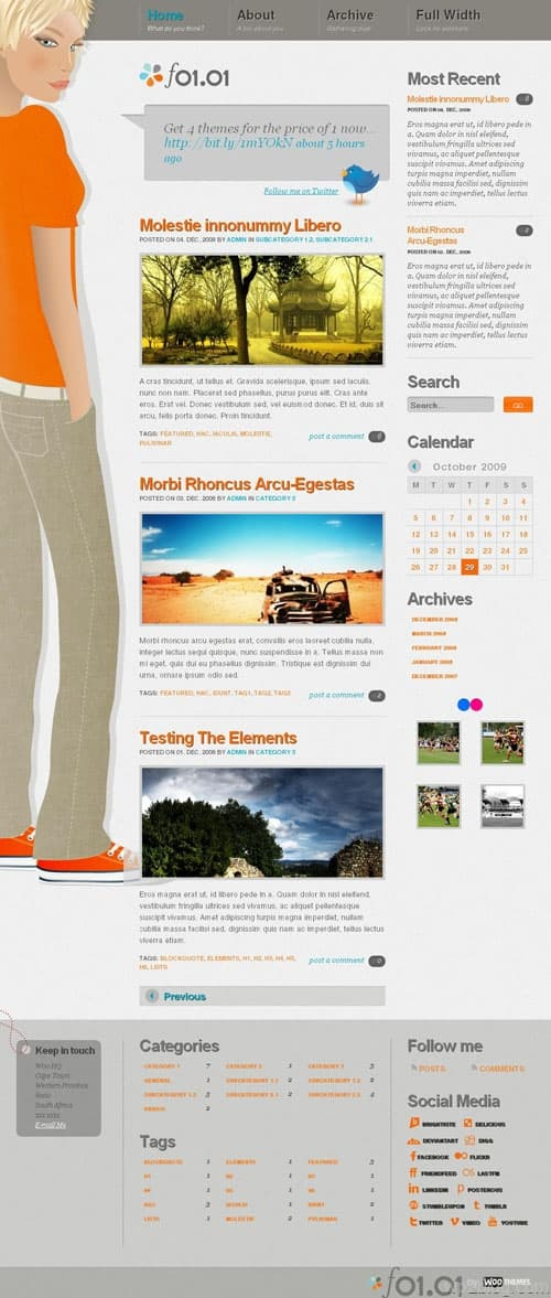 f0101 Premium WordPress Theme