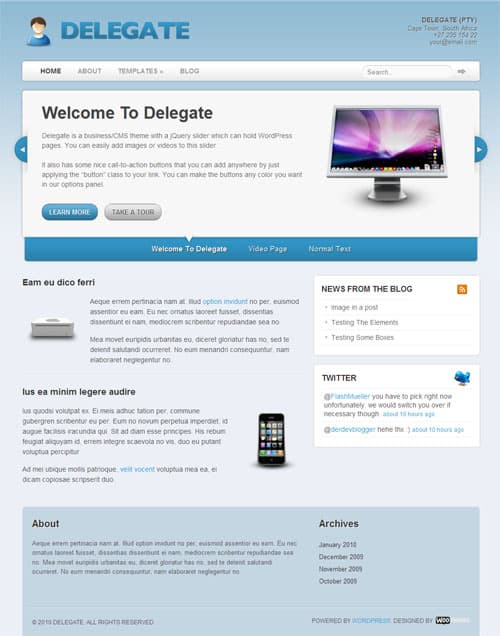 delegate-wordpress-theme