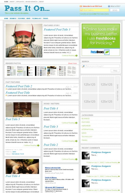 Pass it on wordpress theme