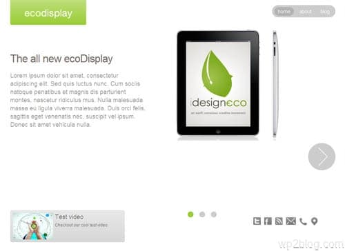 Eco Display Slideshow WordPress Theme