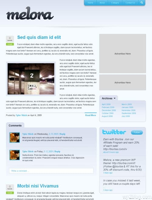 melora wordpress theme