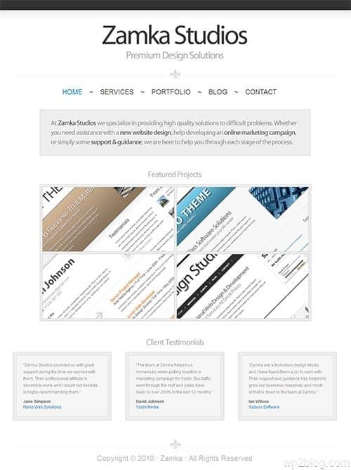Zamka Business Premium WordPress Theme