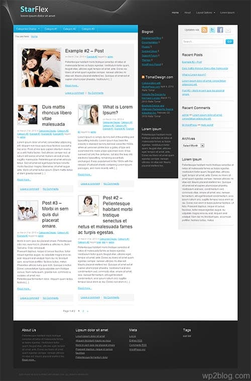 star flex wordpress theme