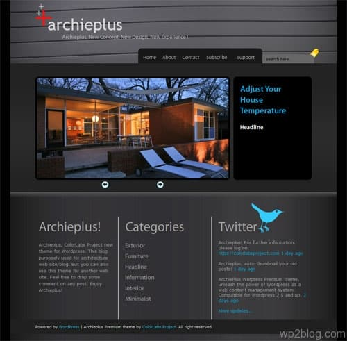 Architecture WordPress Theme ArchiePlus