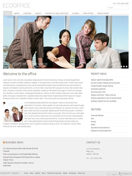 eco office wordpress theme
