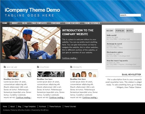 iCompany WordPress Theme