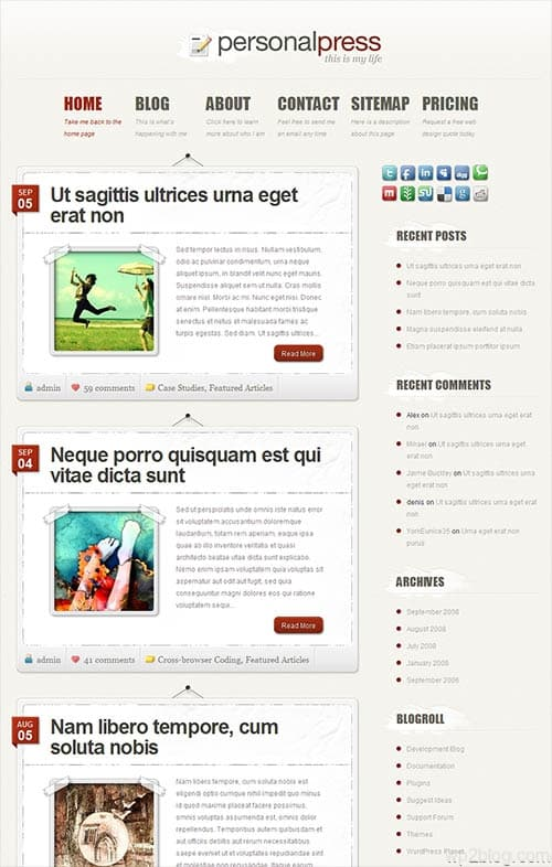 personal press wordpress theme