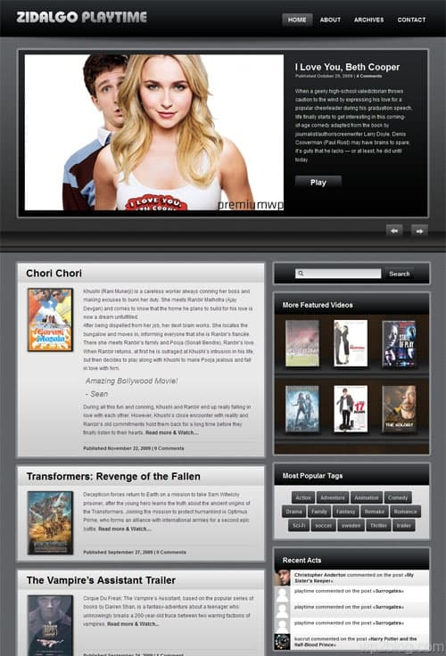 Playtime Video WordPress Theme