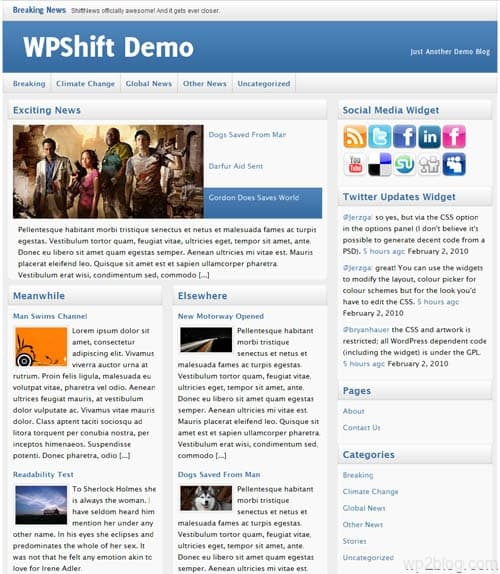 shift news wordpress theme