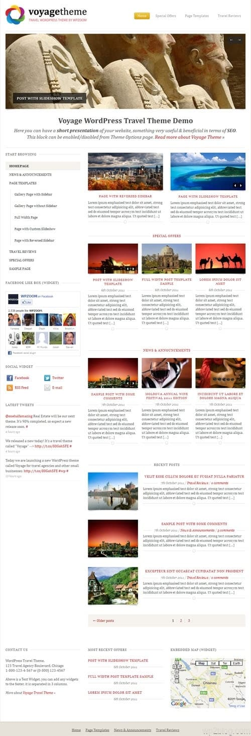 Voyage Premium WordPress Travel Theme