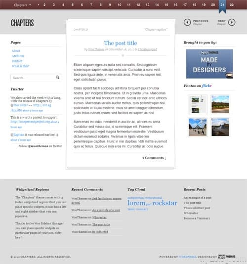 Chapters Book Promotion WordPress Theme