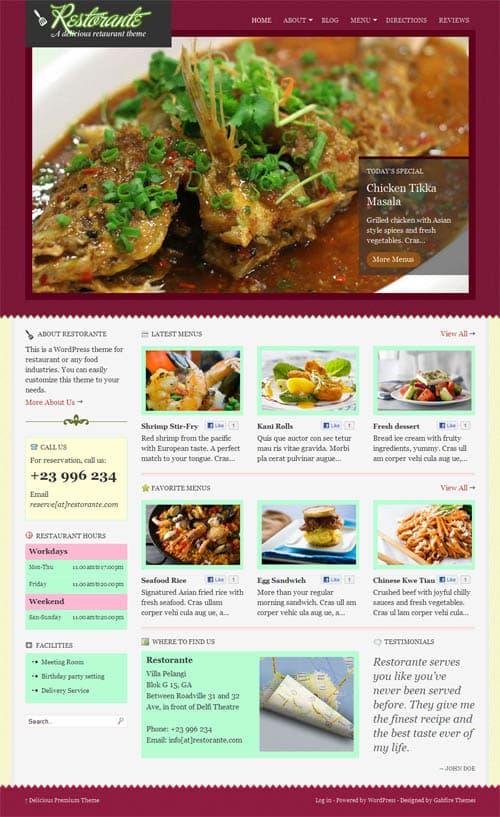 Restorante WordPress Premium Theme